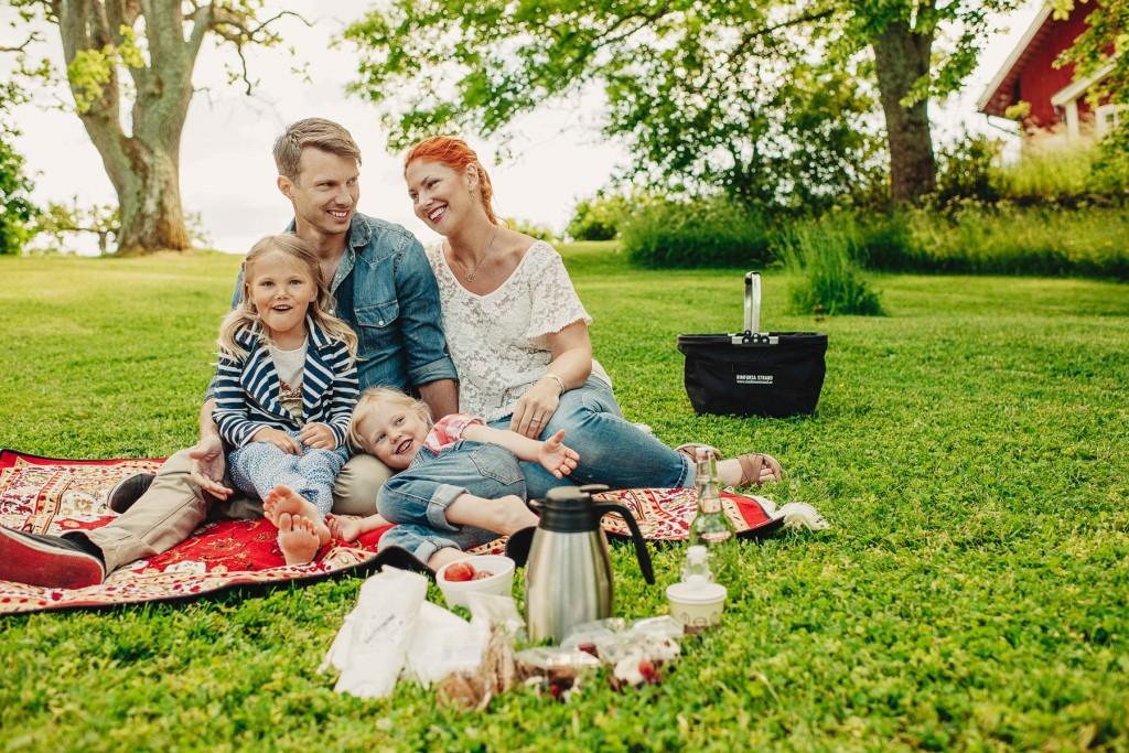 Picknick på Rimforsa Strand