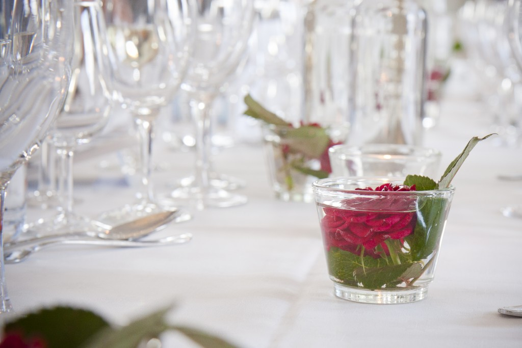 bröllopsdukning, fotograf CaBa Media